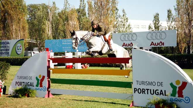 showjumping competition in lisbon