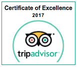 Amiroad Tripadvisor Certificate of Excellence 2017 - Contact us
